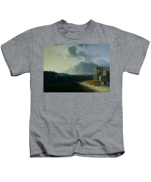 Landscape With Mount Stromboli Kids T-Shirt