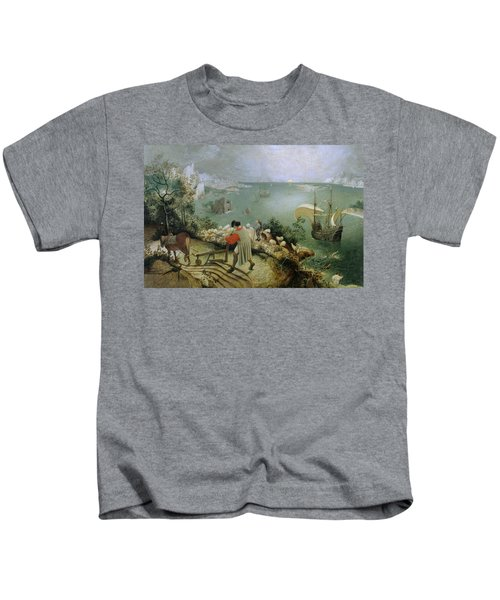 Landscape With The Fall Of Icarus Kids T-Shirt
