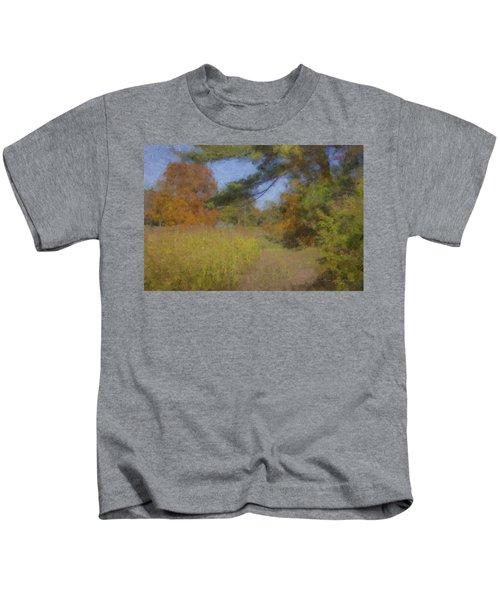 Langwater Farm Tractor Path Kids T-Shirt