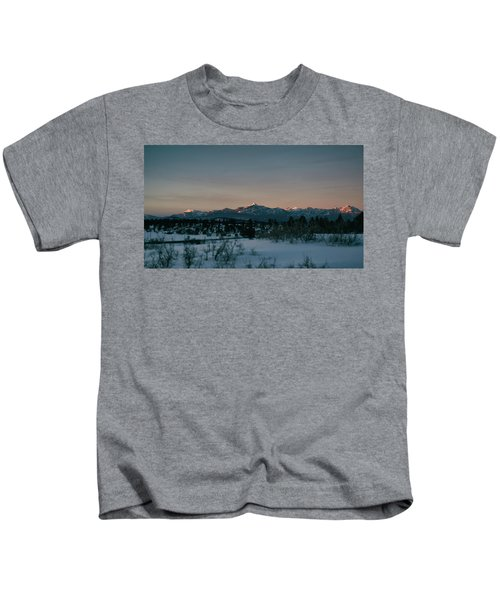 Last Light On Pagosa Peak Kids T-Shirt