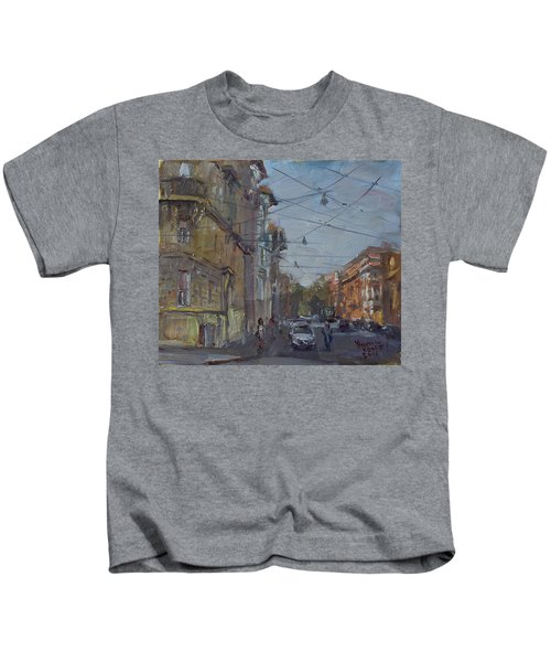 Late Afternoon Light - Regina Margherita -rome Kids T-Shirt