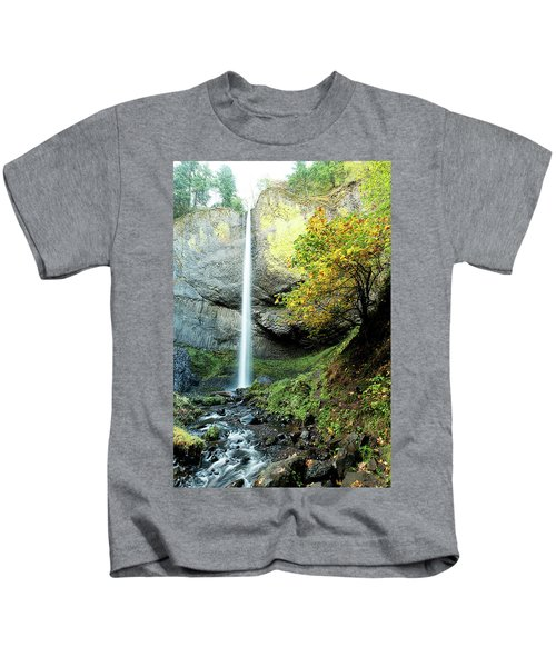 Latourell Falls Kids T-Shirt