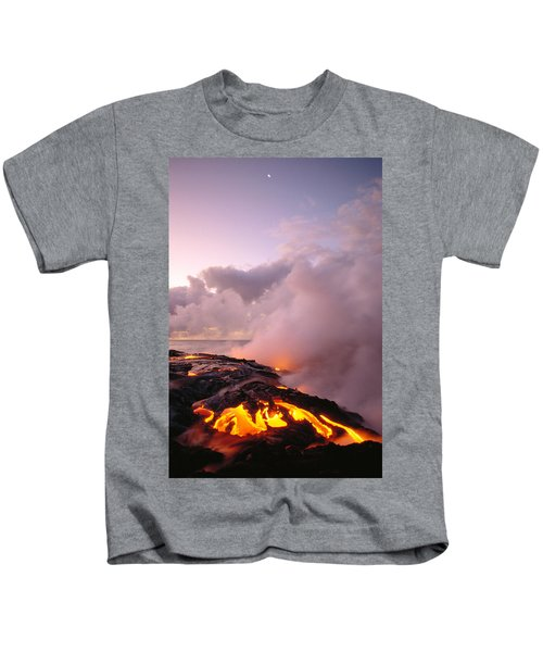 Lava Flows At Sunrise Kids T-Shirt by Peter French - Printscapes