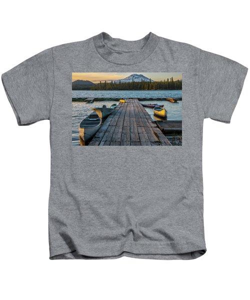 Lava Lake Evening  Kids T-Shirt