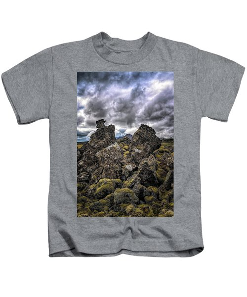 Lava Rock And Clouds Kids T-Shirt