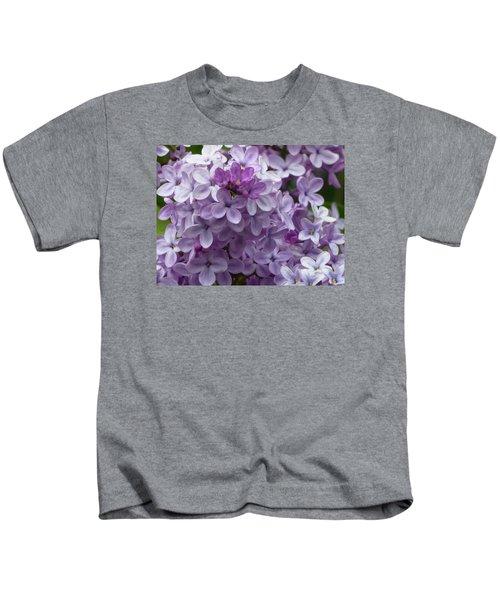 Lavender Lilacs Kids T-Shirt