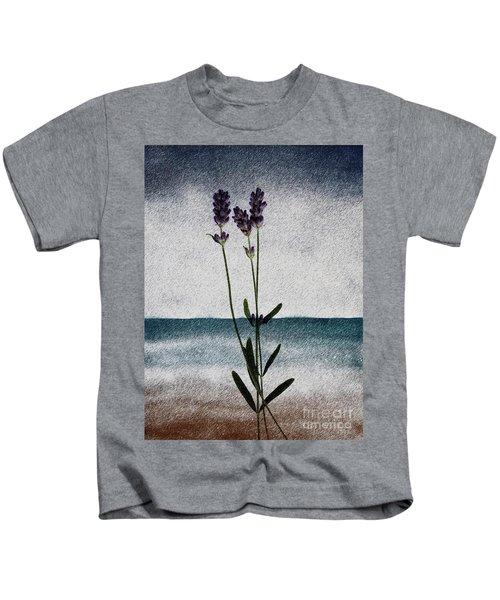 Lavender Ocean Breath Kids T-Shirt