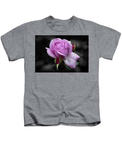 Lavender Rose Kids T-Shirt