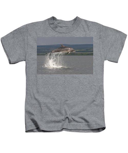 Leaping Bottlenose Dolphin  - Scotland #39 Kids T-Shirt