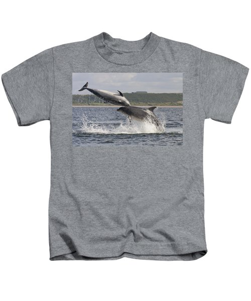 Leaping Bottlenose Dolphins - Scotland  #38 Kids T-Shirt