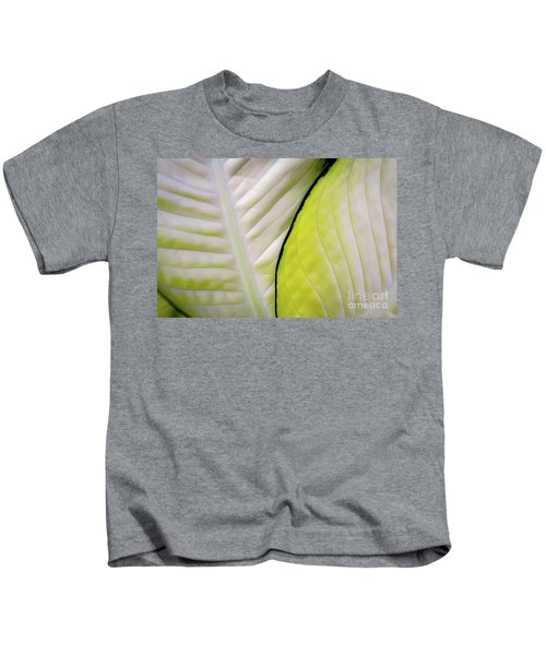 Leaves In White Kids T-Shirt