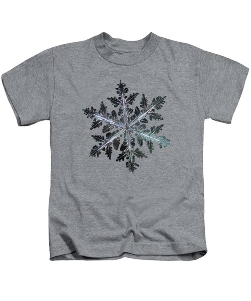Leaves Of Ice, Panoramic Version Kids T-Shirt