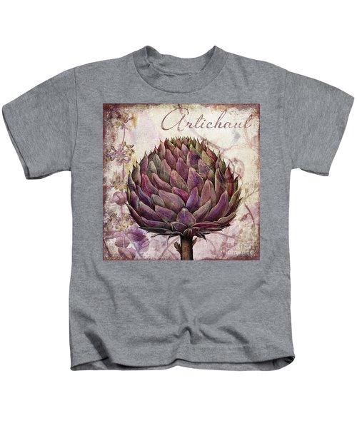 Legumes Francais Artichoke Kids T-Shirt by Mindy Sommers