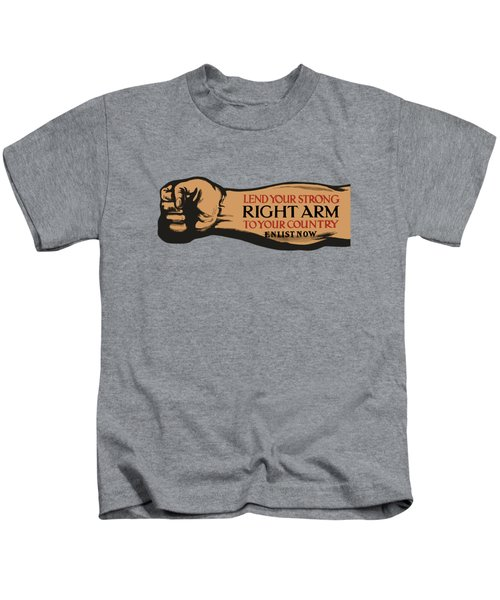 Lend Your Strong Right Arm To Your Country Kids T-Shirt