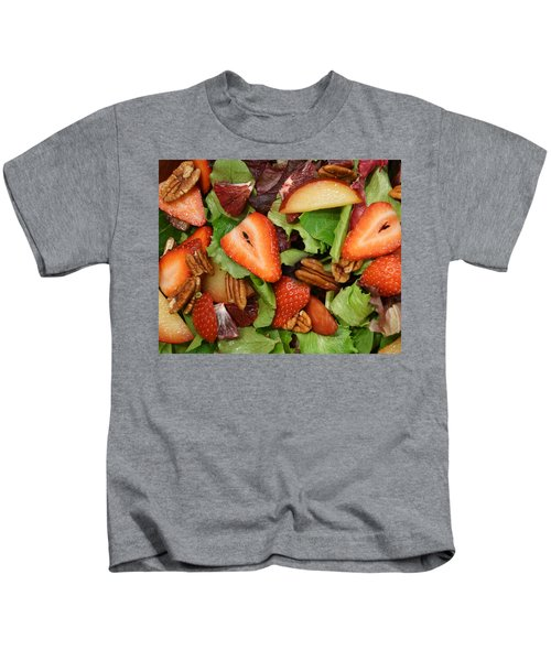 Lettuce Strawberry Plum Salad Kids T-Shirt