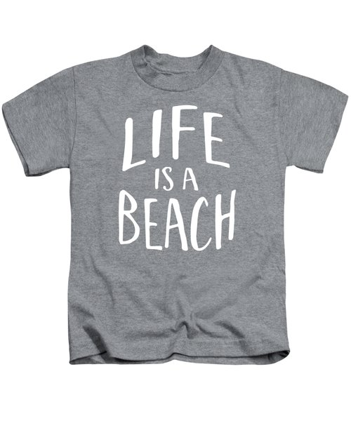 Life Is A Beach White Ink Tee Kids T-Shirt
