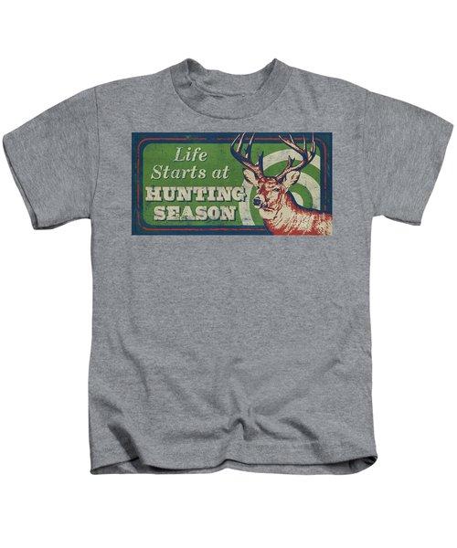 Life Starts Hunting Season Kids T-Shirt
