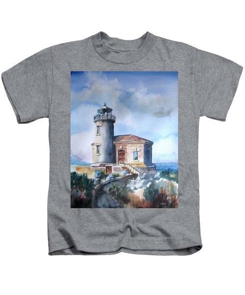 Lighthouse At Bandon Kids T-Shirt