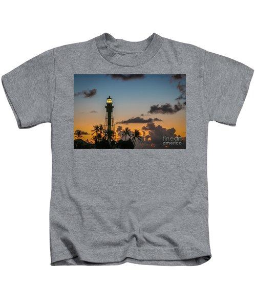 Lighthouse At Dawn #1 Kids T-Shirt