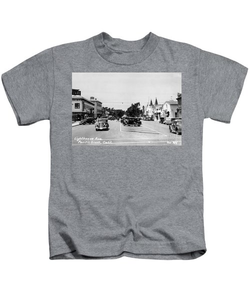 Lighthouse Avenue Downtown Pacific Grove, Calif. 1935  Kids T-Shirt