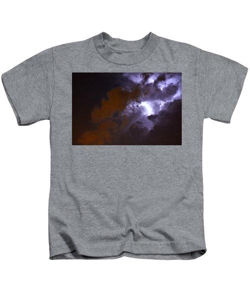 Lightning And Light Pollution Kids T-Shirt