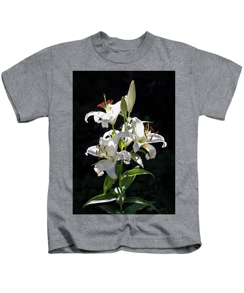 Lilies In The Sun Kids T-Shirt