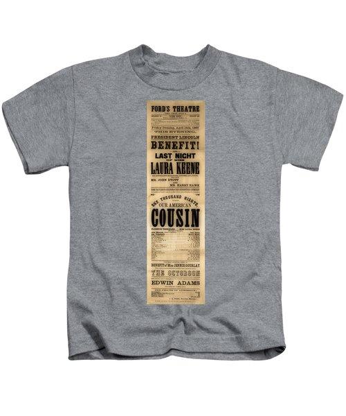 Lincoln Assassination Kids T-Shirt