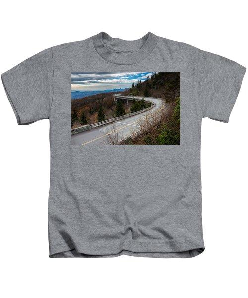 Linn Cove Viaduct Late Fall Kids T-Shirt