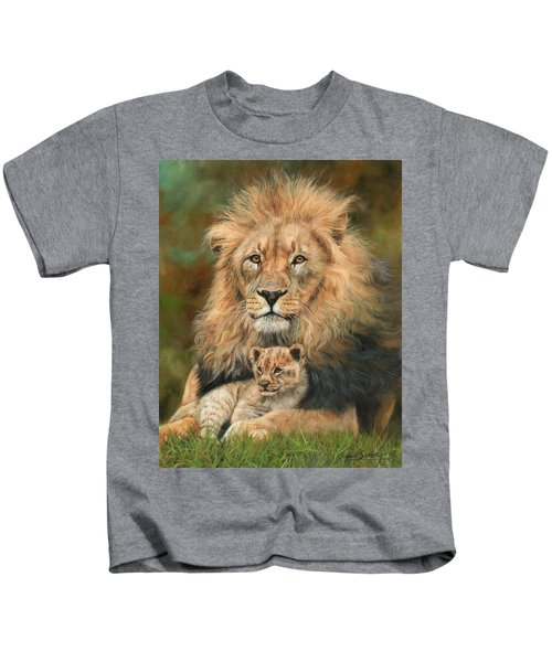 Lion And Cub Kids T-Shirt