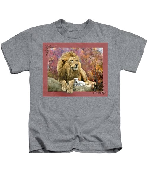 Lion And The Lamb Kids T-Shirt