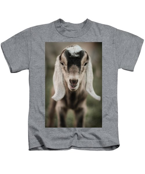 Little Goat In Color Kids T-Shirt