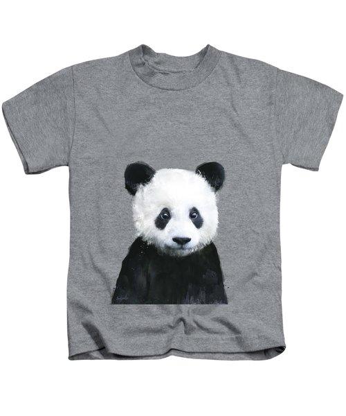 Little Panda Kids T-Shirt by Amy Hamilton