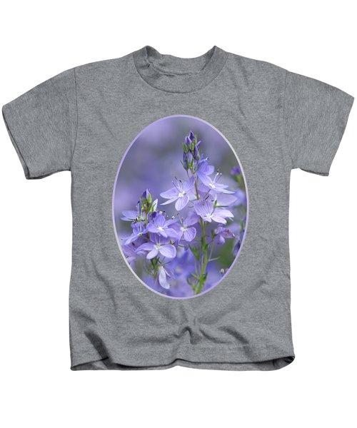 Little Purple Flowers Vertical Kids T-Shirt