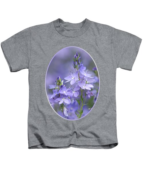 Little Purple Flowers Vertical Kids T-Shirt