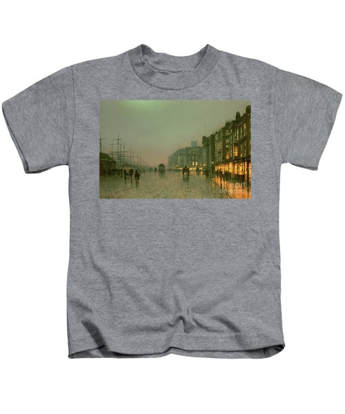 Liverpool Docks From Wapping Kids T-Shirt