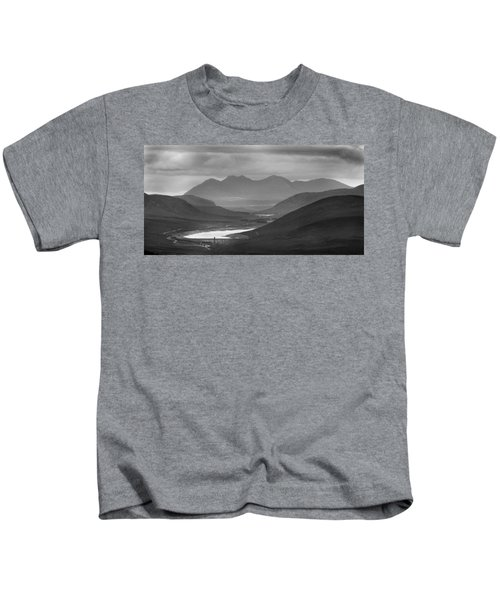 Loch Glascarnoch And An Teallach Kids T-Shirt