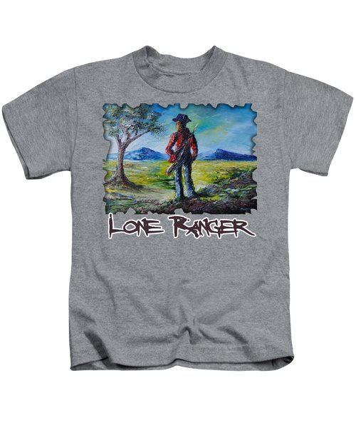 Lone Ranger On Foot Kids T-Shirt