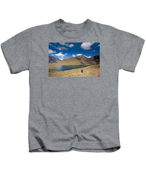 Lonely Walker At Punta Union Kids T-Shirt