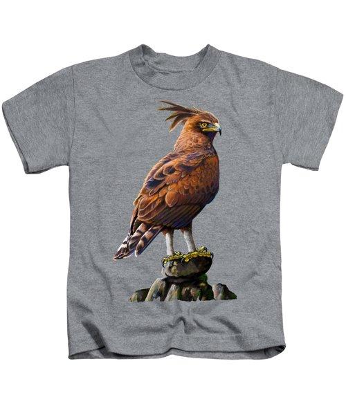 Long Crested Eagle Kids T-Shirt