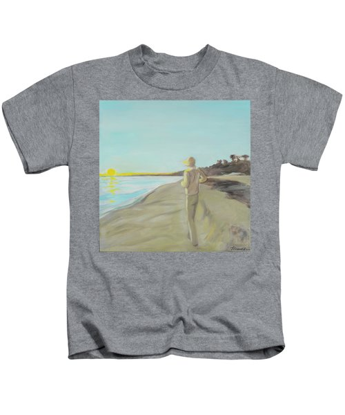 Looking South Tryptic Part 3 Kids T-Shirt