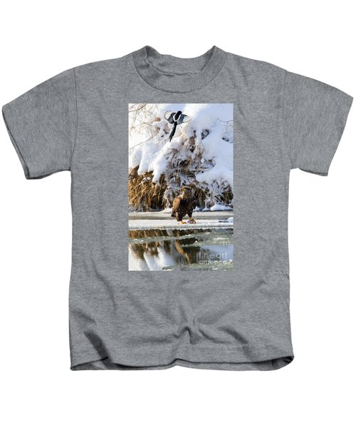 Lookout Above Kids T-Shirt by Mike Dawson
