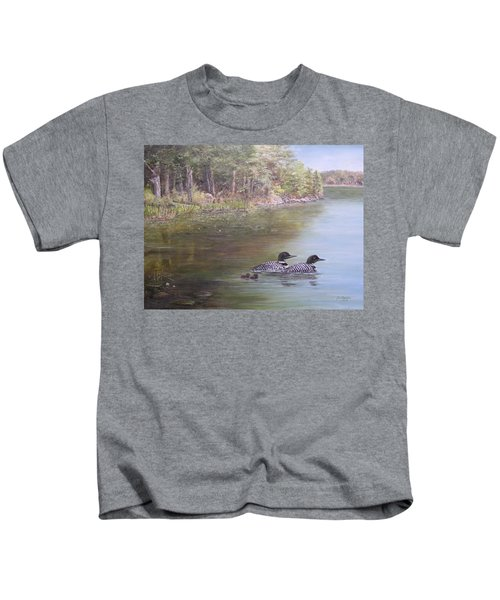 Loon Family 1 Kids T-Shirt