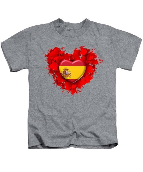 Love Spain 1 Kids T-Shirt by Alberto RuiZ