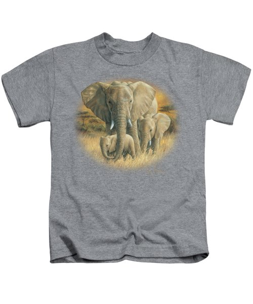 Loving Mother Kids T-Shirt by Lucie Bilodeau