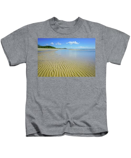 Low Tide Beach Ripples Kids T-Shirt