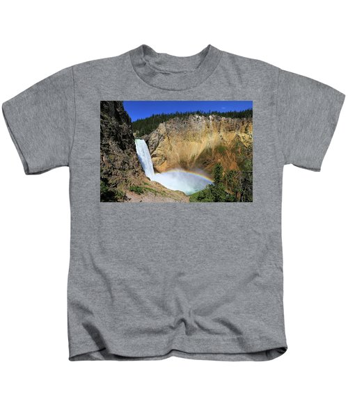 Lower Falls With A Rainbow Kids T-Shirt