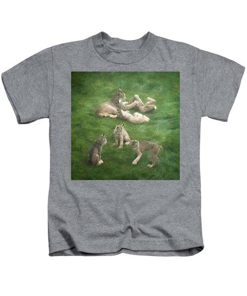 Lynx In The Mist Kids T-Shirt
