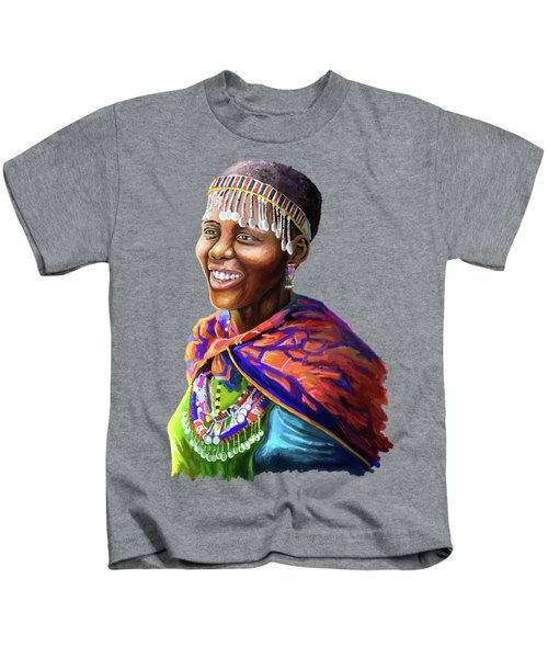Maasai Girl Kids T-Shirt