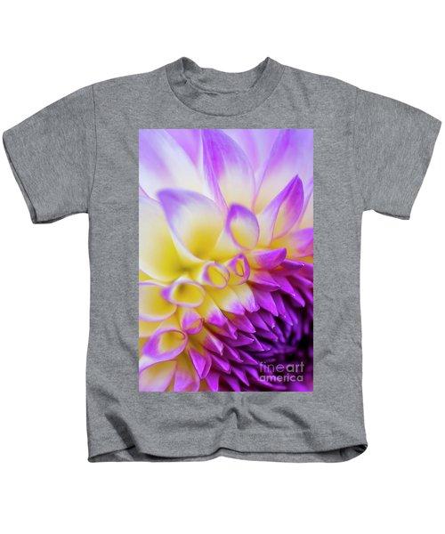 Macro Dahlia Kids T-Shirt