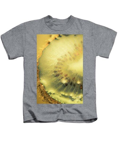 Macro Shot Of Submerged Kiwi Fruit Kids T-Shirt